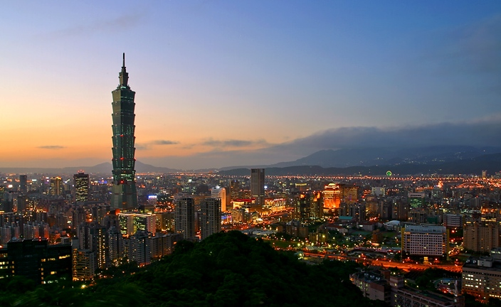 Taipei night view.