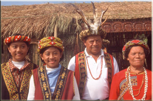 An Aboriginal family in Taiwan.