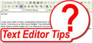 Text Editor Tips