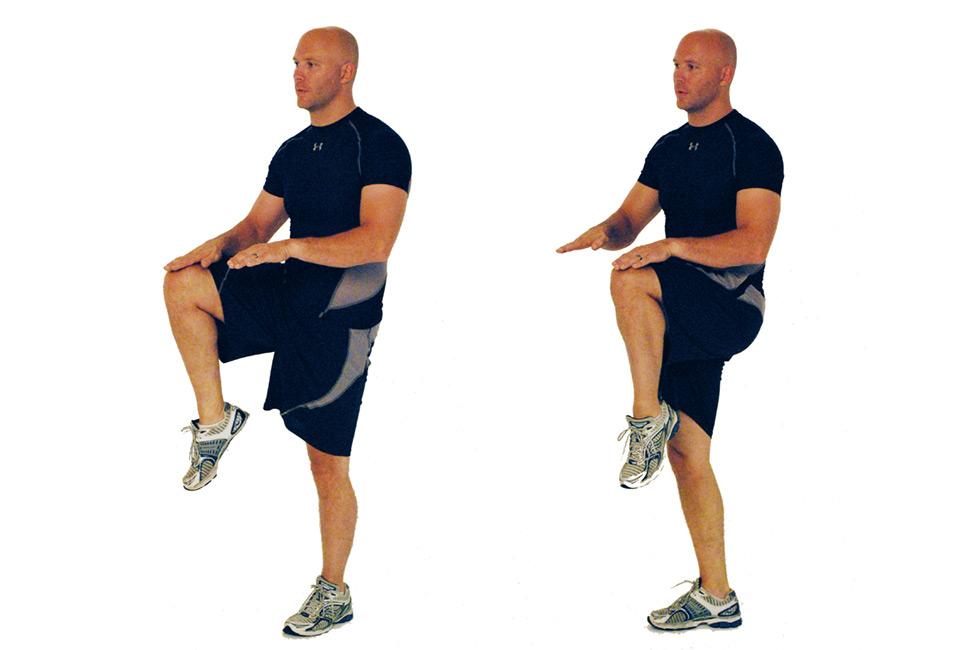 high knee raises