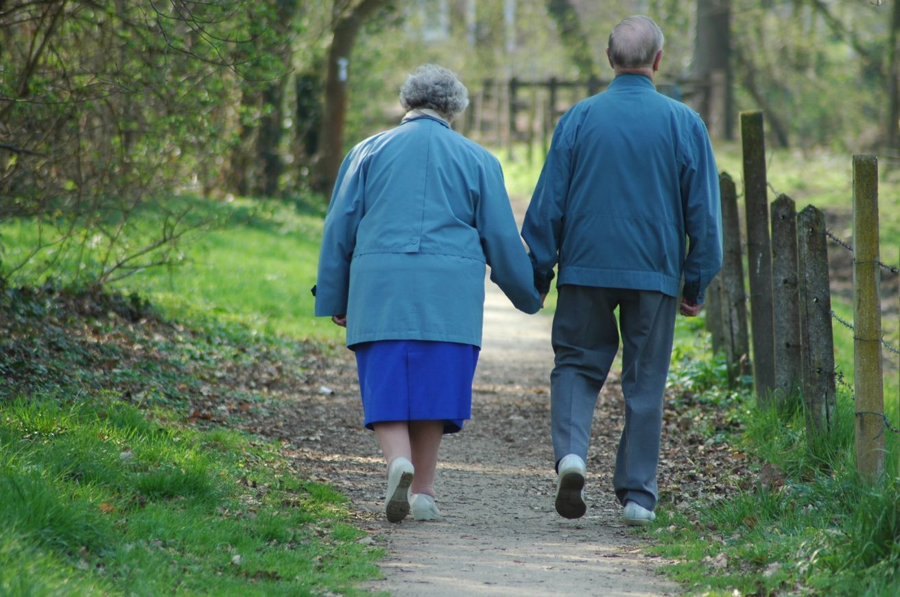 Walking can help with physical well-being.