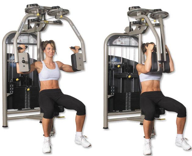 Chest Fly on Pec Deck. Retrieved from: http://www.trainbodyandmind.com/wp-content/uploads/2011/02/Chest-Fly-Workout-1.jpg
