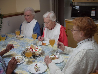 Social gatherings become easier and less intimidating in assisted living facilities.