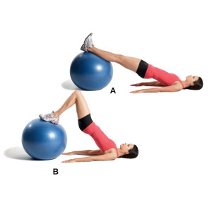 Leg Curls with Exercise Ball
