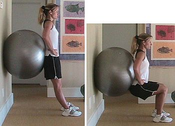 Exercise ball Squat
