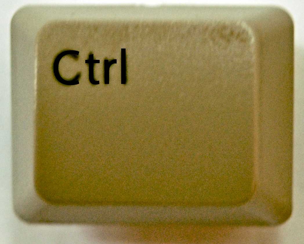 The control key, or ctrl key, is normally found on the bottom corners of a PC keyboard, beside the alt keys