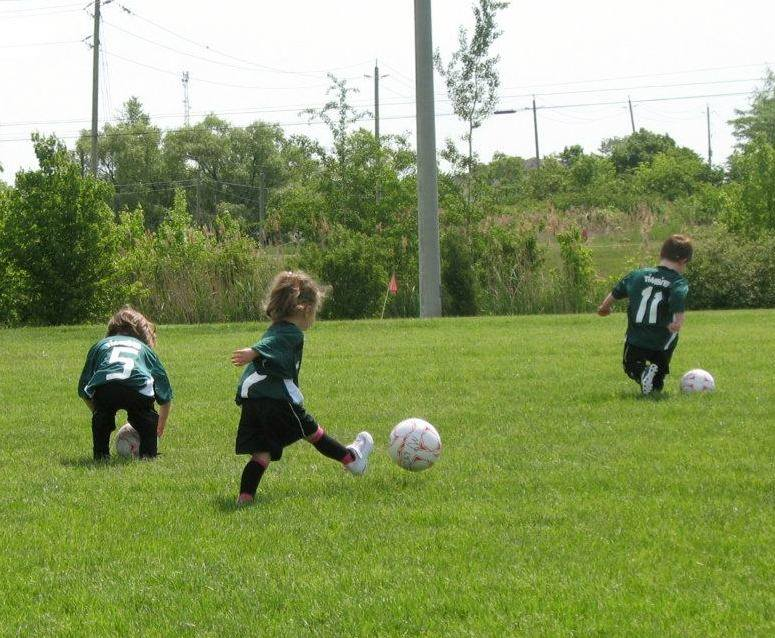 Soccer is a fun and easy way to get children's heart racing and positively improve their social skills.Photo taken by Carly Antonucci.