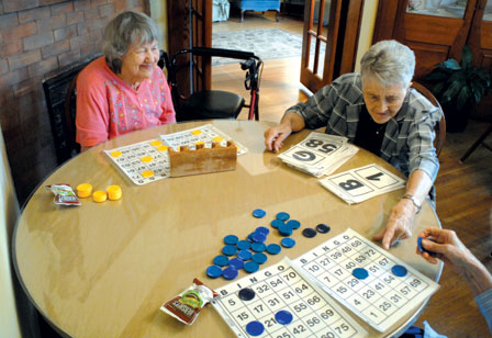 Playing bingo can help with cognitive functions.