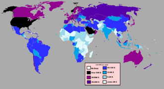 Countries by 2012 GDP (PPP) per capita