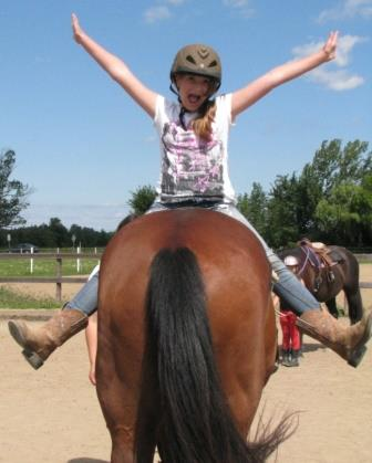 Horseback riding is a fun and educational way to be physically active.Photo taken by Jessica Cieri