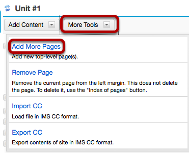 Image:Or, on an existing top-level page, click More Tools, then Add More Pages.png