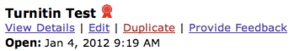 Asssignments with Turnitin enabled with appear with this ribbon icon next to their name.