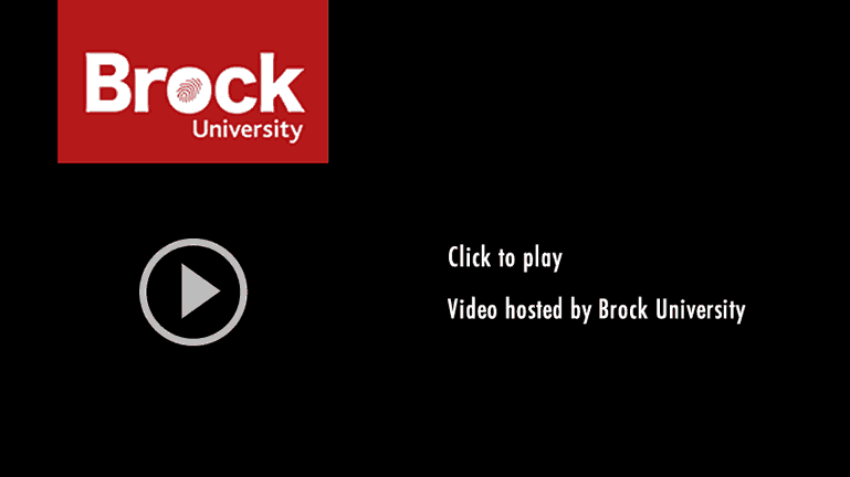 Brock University Hosted video